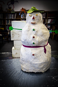 Snowman Reading Day at Anderson Lee Lib